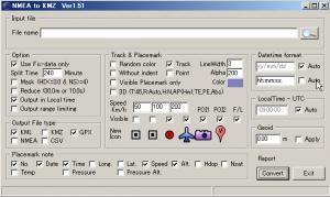 NMEA to KMZ file converter